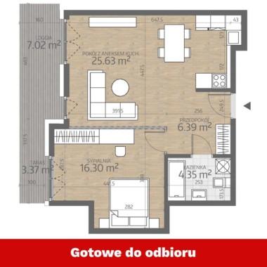 Fabryczna 52,67 m2